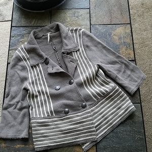 Free People 100% Cotton Button Down Cardigan M